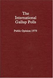 Cover of: The international Gallup polls, public opinion 1979