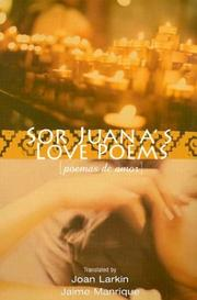 Cover of: Sor Juana's Love Poems (Poemas de Amor)