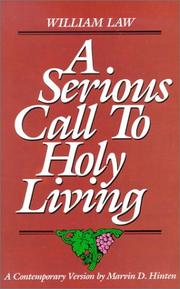 Cover of: A serious call to holy living