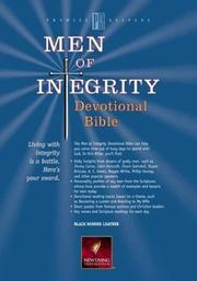Cover of: Men of Integrity devotional Bible |