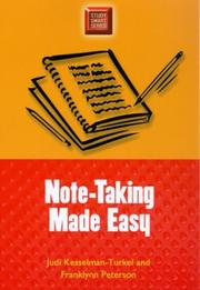 Cover of: Note-taking made easy | Judi Kesselman-Turkel