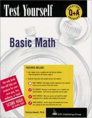 Cover of: Basic mathematics with pre-algebra