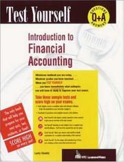 Cover of: Introduction to financial accounting