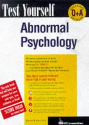 Cover of: Abnormal psychology