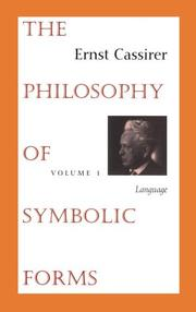 Cover of: The Philosophy of Symbolic Forms, Volume 1
