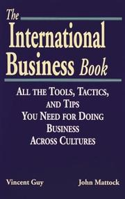 Cover of: The international business book | Vincent Guy