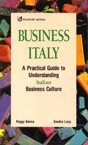 Cover of: Business Italy