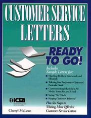 Cover of: Customer service letters ready to go!