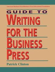 Cover of: Guide to writing for the business press