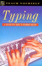 Cover of: Typing/a Step-By-Step Guide to Keyboard Mastery | Bettina Croft