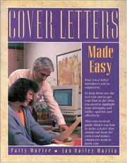 Cover of: Cover letters made easy | Patty Marler