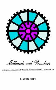 Cover of: Millhands & preachers