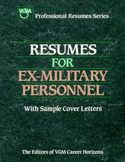 Resumes for ex-military personnel by VGM Career Horizons (Firm)