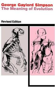 Cover of: The meaning of evolution