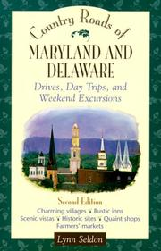 Cover of: Country roads of Maryland and Delaware