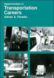 Cover of: Opportunities in transportation careers