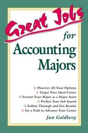 Cover of: Great jobs for accounting majors