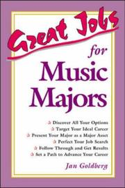 Cover of: Great jobs for music majors | Jan Goldberg