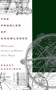 The problem of knowledge by Ernst Cassirer