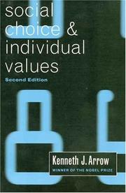 Cover of: Social Choice and Individual Values, Second edition (Cowles Foundation Monographs Series)