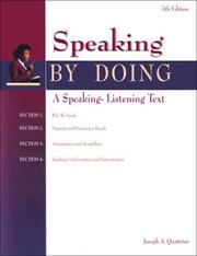 Cover of: Speaking by Doing Student Edition | McGraw-Hill