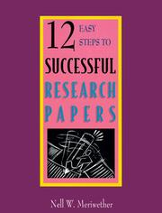Cover of: 12 easy steps to successful research papers