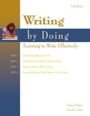 Cover of: Writing by doing
