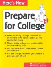 Cover of: Prepare for college | Marjorie Eberts