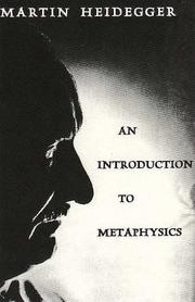 Cover of: Introduction to metaphysics