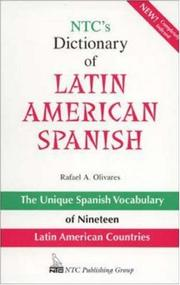 Cover of: NTC's dictionary of Latin American Spanish