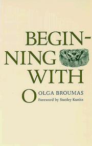 Cover of: Beginning with O | Olga Broumas