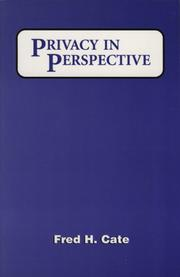 Cover of: Privacy in perspective