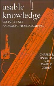 Usable knowledge by Charles Edward Lindblom