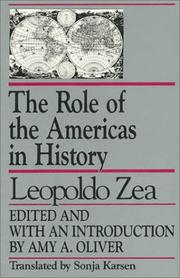 Cover of: The role of the Americas in history