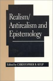 Cover of: Realism/Antirealism and Epistemology | Christopher B. Kulp