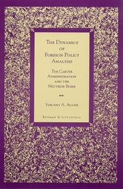 Cover of: The dynamics of foreign policy analysis