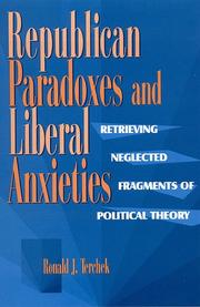 Cover of: Republican paradoxes and liberal anxieties