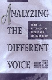Cover of: Analyzing the Different Voice | Jerilyn  Silber,  Ellen S. Fisher