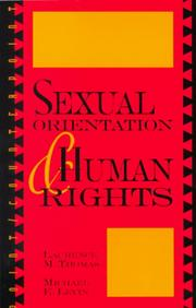 Cover of: Sexual Orientation and Human Rights