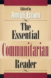 Cover of: The essential communitarian reader