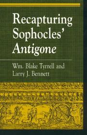 Cover of: Recapturing Sophocles' Antigone