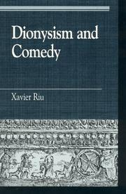 Cover of: Dionysism and comedy