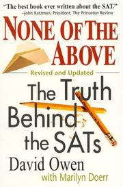 Cover of: None of the above