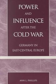 Cover of: Power and influence after the Cold War