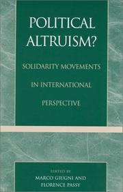 Cover of: Political Altruism?