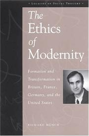 Cover of: The Ethics of Modernity | Richard Mnch