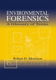Cover of: Environmental forensics
