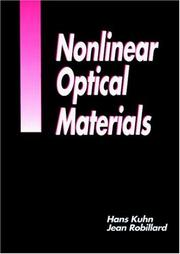 Cover of: Nonlinear optical materials |