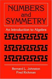 Cover of: Numbers and symmetry
