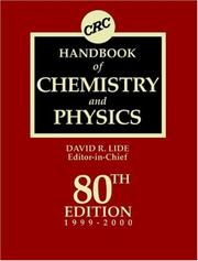 Cover of: CRC Handbook of Chemistry and Physics (Crc Handbook of Chemistry and Physics, 80th ed) | David R. Lide